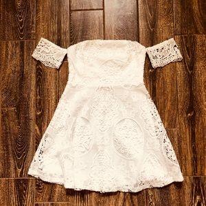 NWOT! Forever 21 White Lace Mini Dress